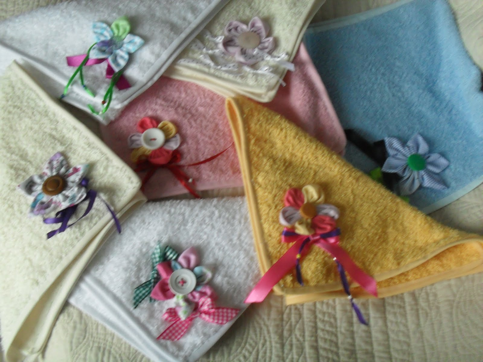 Decorar Baño Toallas:Flowers Bache: Toallas de mano
