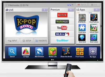 Konten K-POP ZONE di LG CINEMA 3D Smart TV!