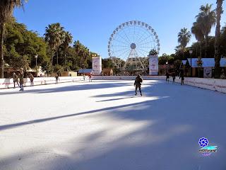 Sevilla - Navidad 2014 - Prado de San Sebastián - Pista de patinaje