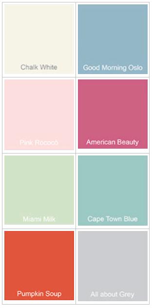 Colores ChalkPaint disponibles para personalizar tu cesto
