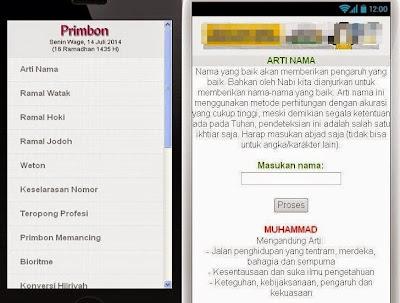 Download Aplikasi Primbon .APK Arti Nama Terbaik