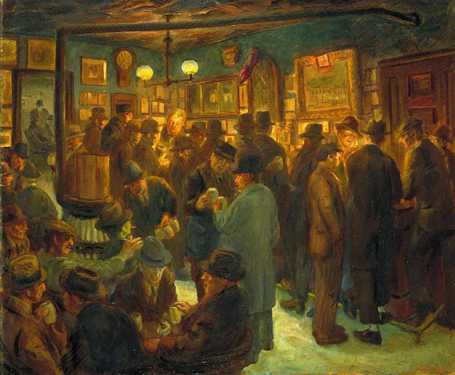 c1929-45 McSorley's Saturday Night oil