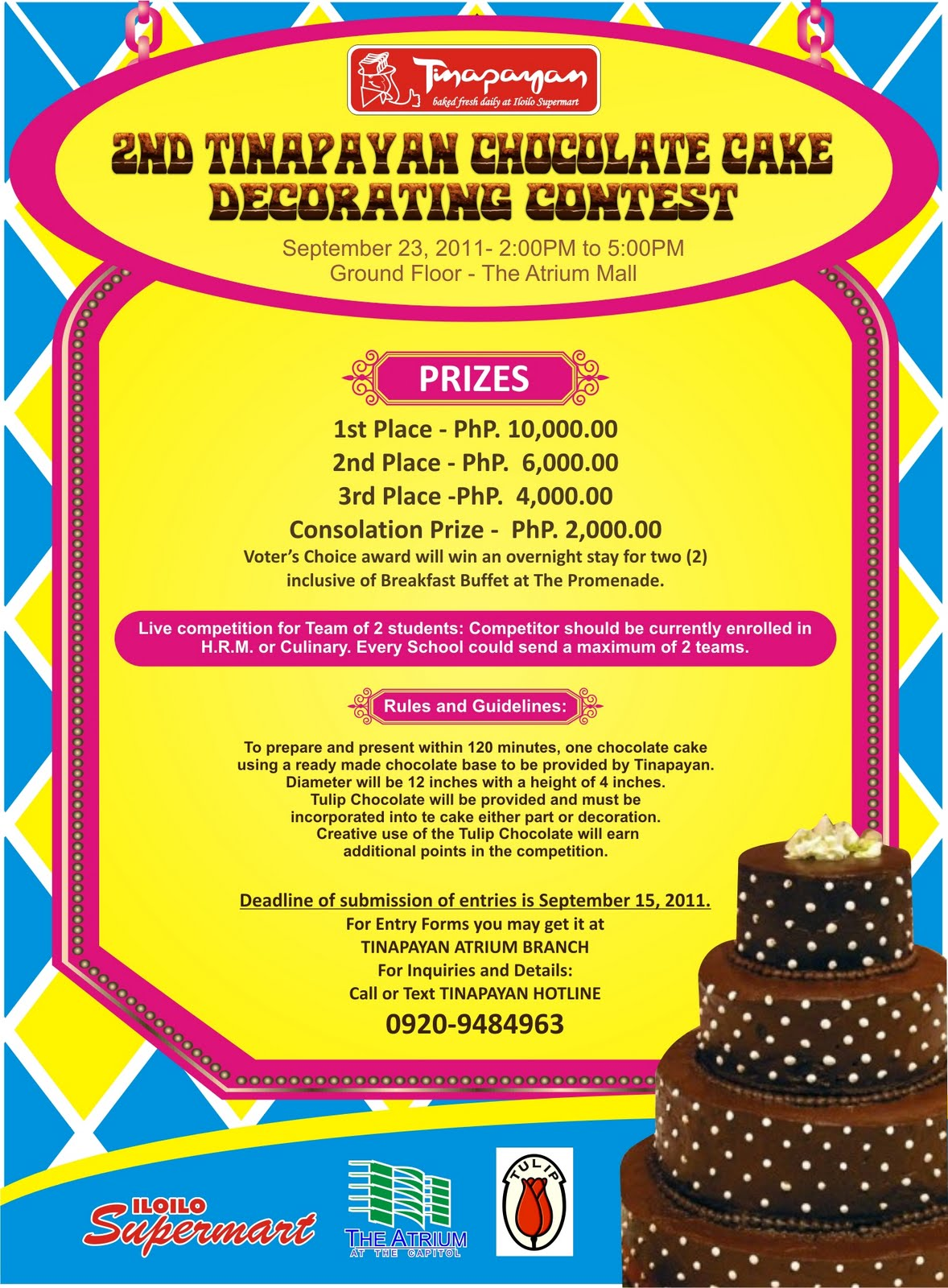 Cake Decorating Competition Guidelines : Tinapayan Chocolate Cake Decorating Contest 2011 ...