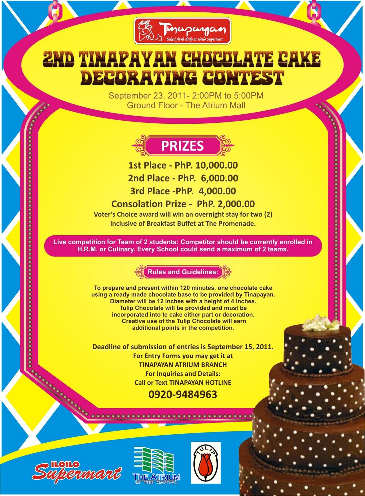 Tinapayan Chocolate Cake Decorating Contest 2011 ...