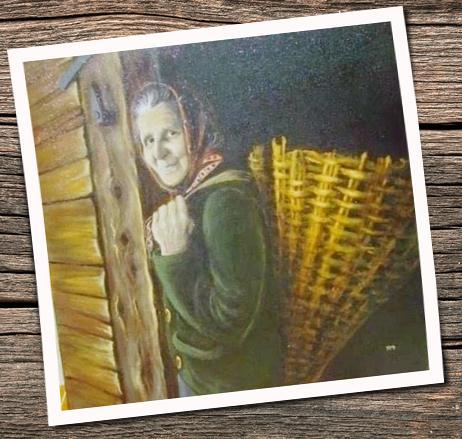 Quadro di Tiziana Millo/In Benecia un tempo si usava il gerlo/koš