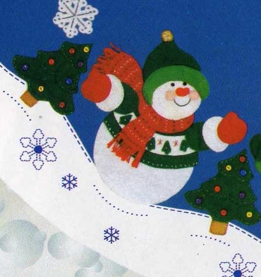 Figuras navide as bonitas en fieltro mimundomanual for Figuras de nieve navidenas