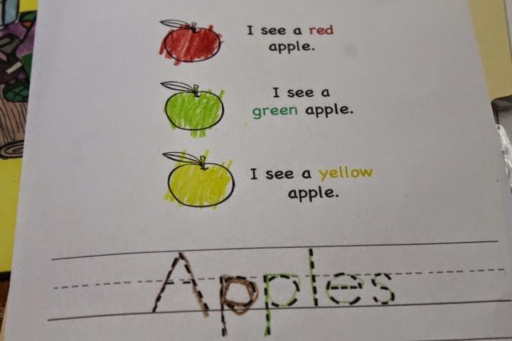 apples copywork