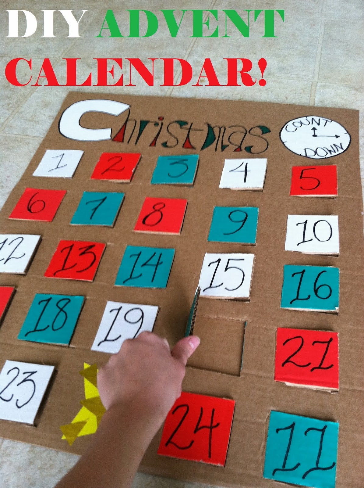 Diy Calendar Countdown : My american confessions large diy christmas advent