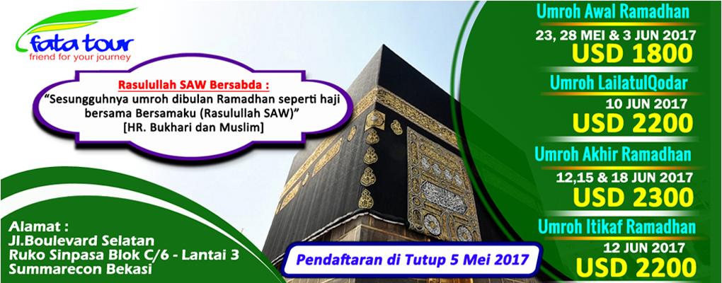 Promo Umroh Ramadhan -  Fatatour 081384211114