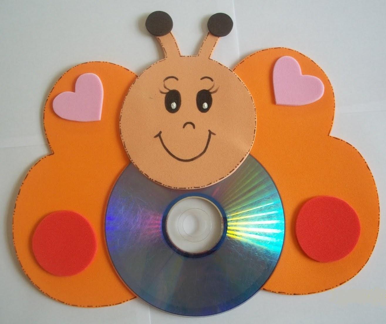 Espa o educar 20 animais feitos com cd usado reciclagem - Manualidades con cd usados ...