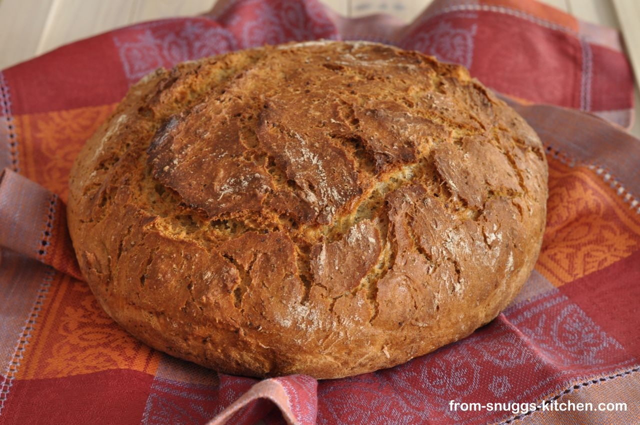 Couscous-Vollkorn-No Knead Brot