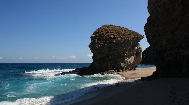 Nude beach Los Muertos (Cabo de Gata, Almeria, Andalusia, Spain)