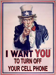 I want YOU to turn off your cell phone