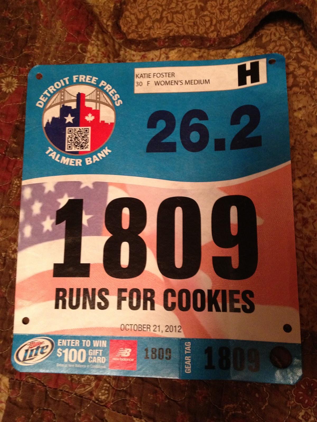 Runs for Cookies: Marathon eve