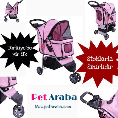 Türkiye'de bir ilk Pet Araba ( Evcil Köpek & Kedi taşıma arabası )