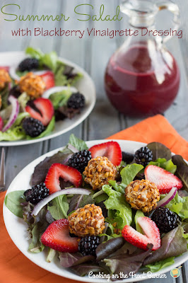 Summer Salad with Blackberry Vinaigrette | Cooking on the Front Burner