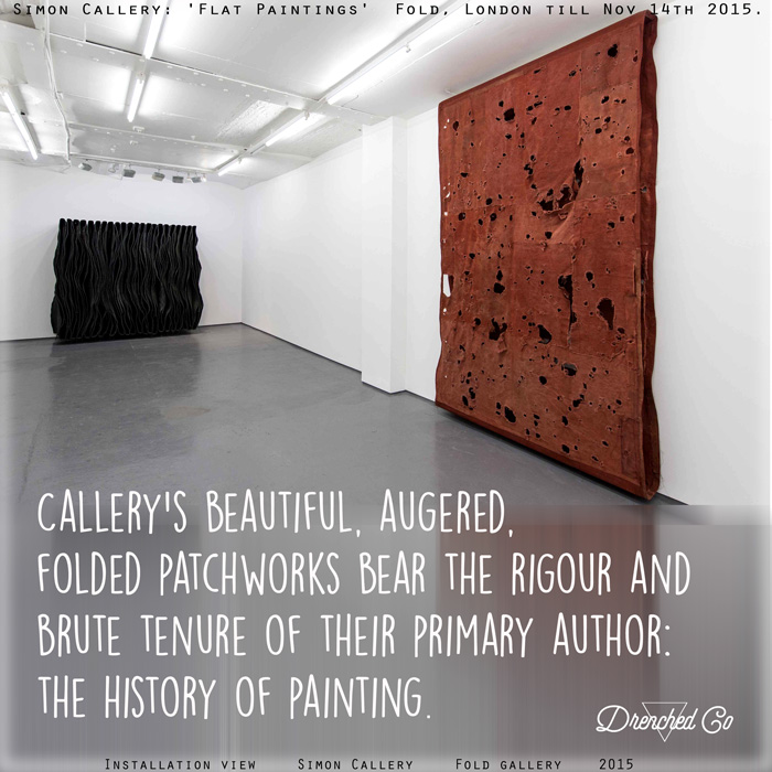 Image of Fold Gallery, London with Art exhibition review by Drenched Co