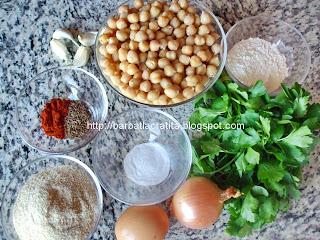 Falafel Chiftele din naut ingrediente