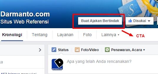 CTA (Tombol Ajakan Bertindak) Fitur Fanspage Facebook Terbaru 2015