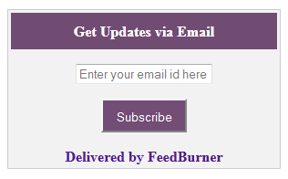 email subscription widget for Blogger