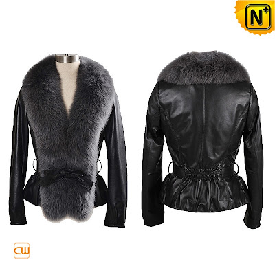 Slim Women Black Sheepskin Jacket
