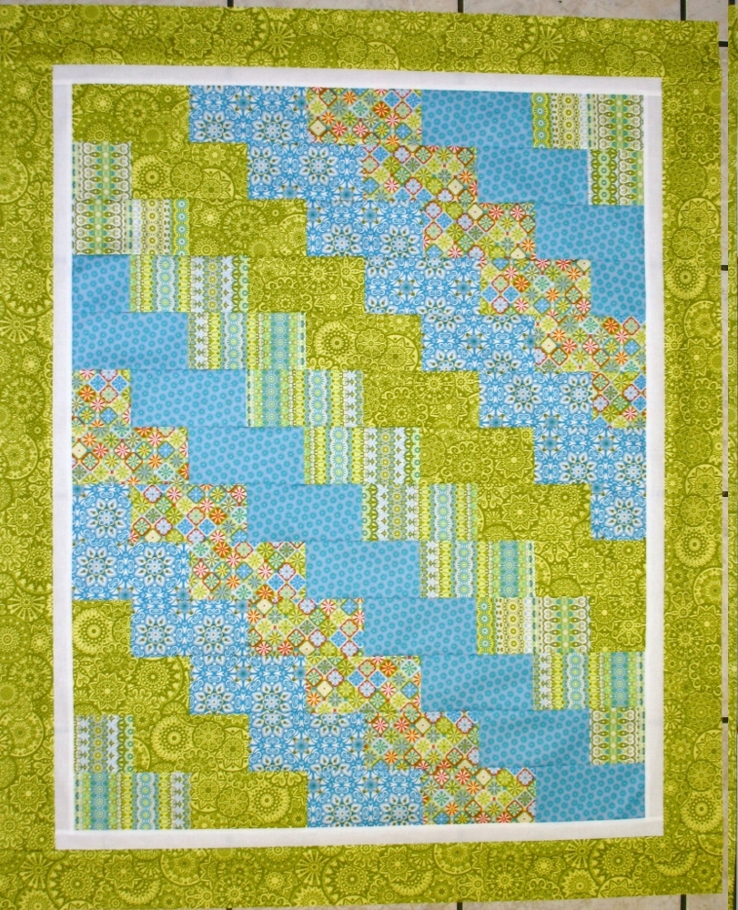 Super Easy Beginner Quilt Patterns : Super Quick & Easy Baby Quilt...Tiny Trails - Orchid Owl Quilts