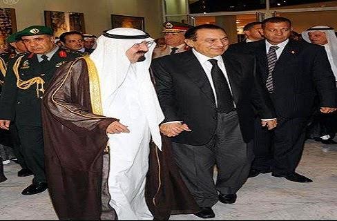 مفاجأة: شاهد ماذا حصل لمبارك فور علمه برحيل ملك السعودية