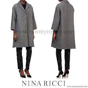 Queen Letizia style NINA RICCI Swing Coat