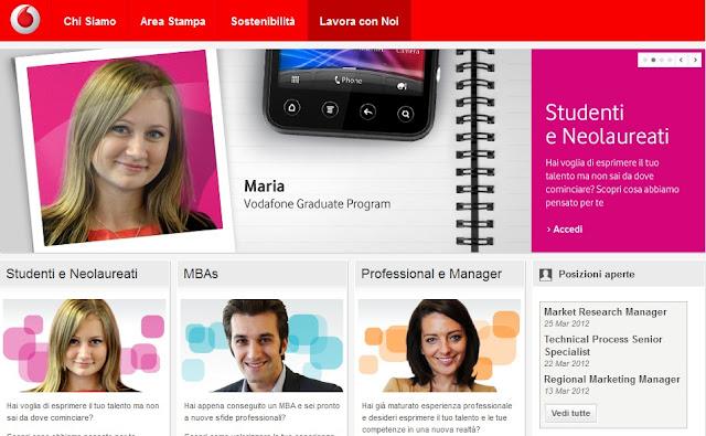 Lavora con noi: Vodafone