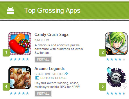 Top 10 Grossing Apps Google Play (May 2013) - Top 10 Lists of