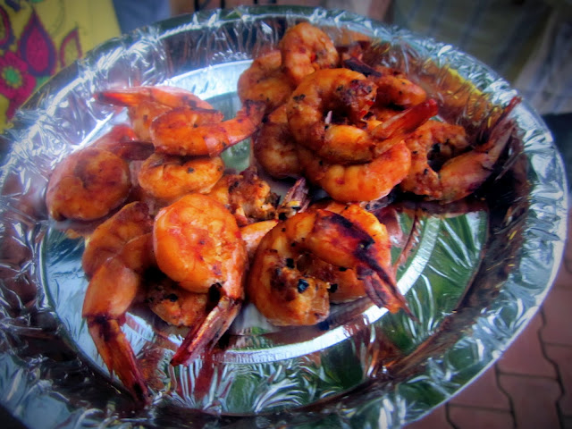 Prawns Barbeque in Chinese sauces
