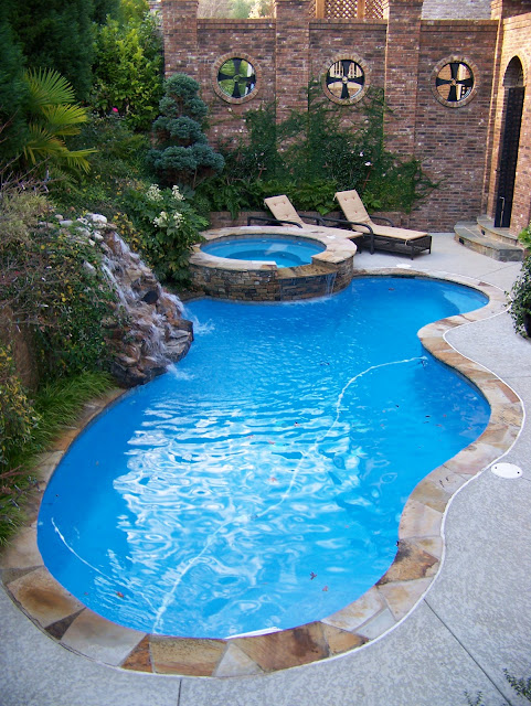 backyard oasis pools free form pool dunwoody. Black Bedroom Furniture Sets. Home Design Ideas