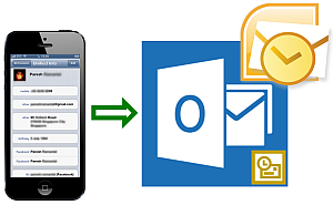 export iphone contacts to outlook