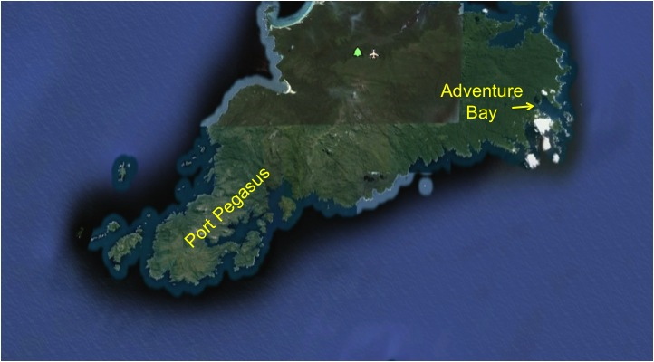 Port Pegasus Stewart Island Map