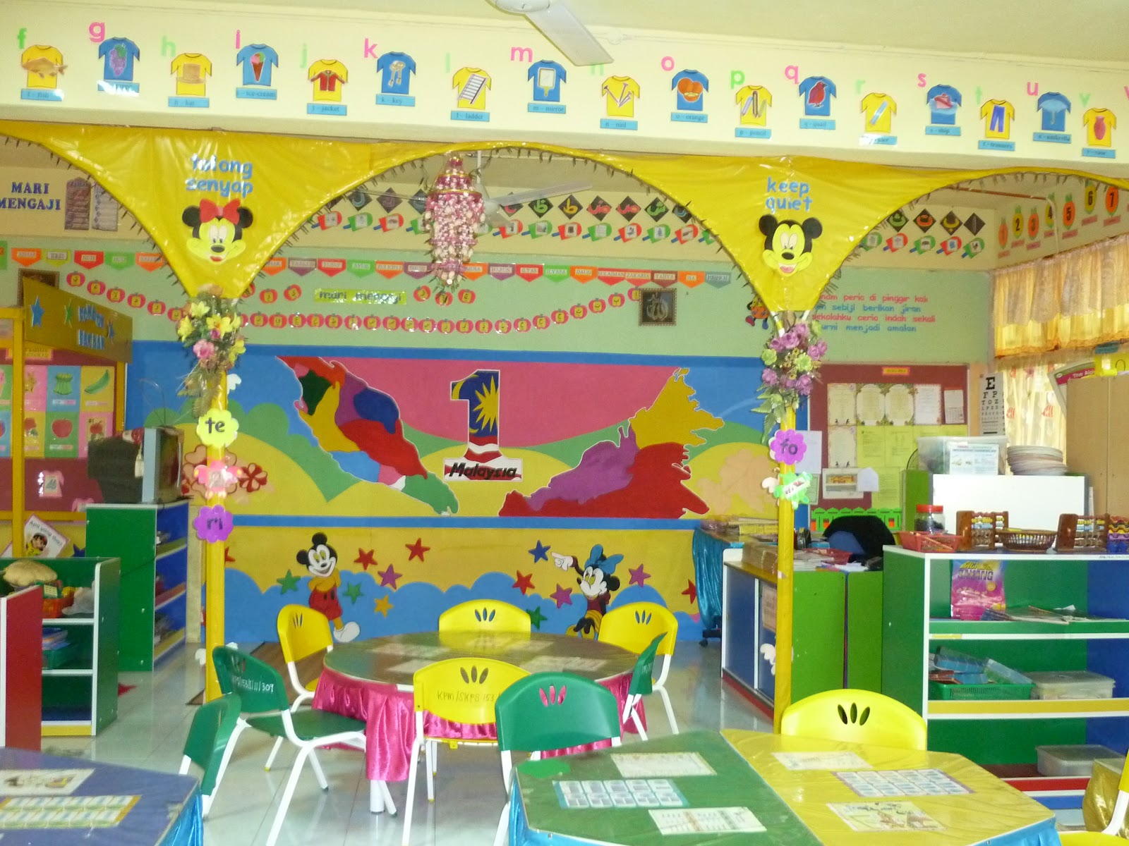 Prasekolah sk pulapah lawatan penanda aras di sk palong 1 for Contoh lukisan mural tadika