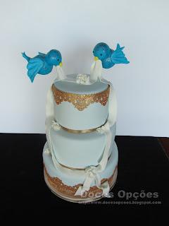 Bolo de Casamento passarinhos bragança