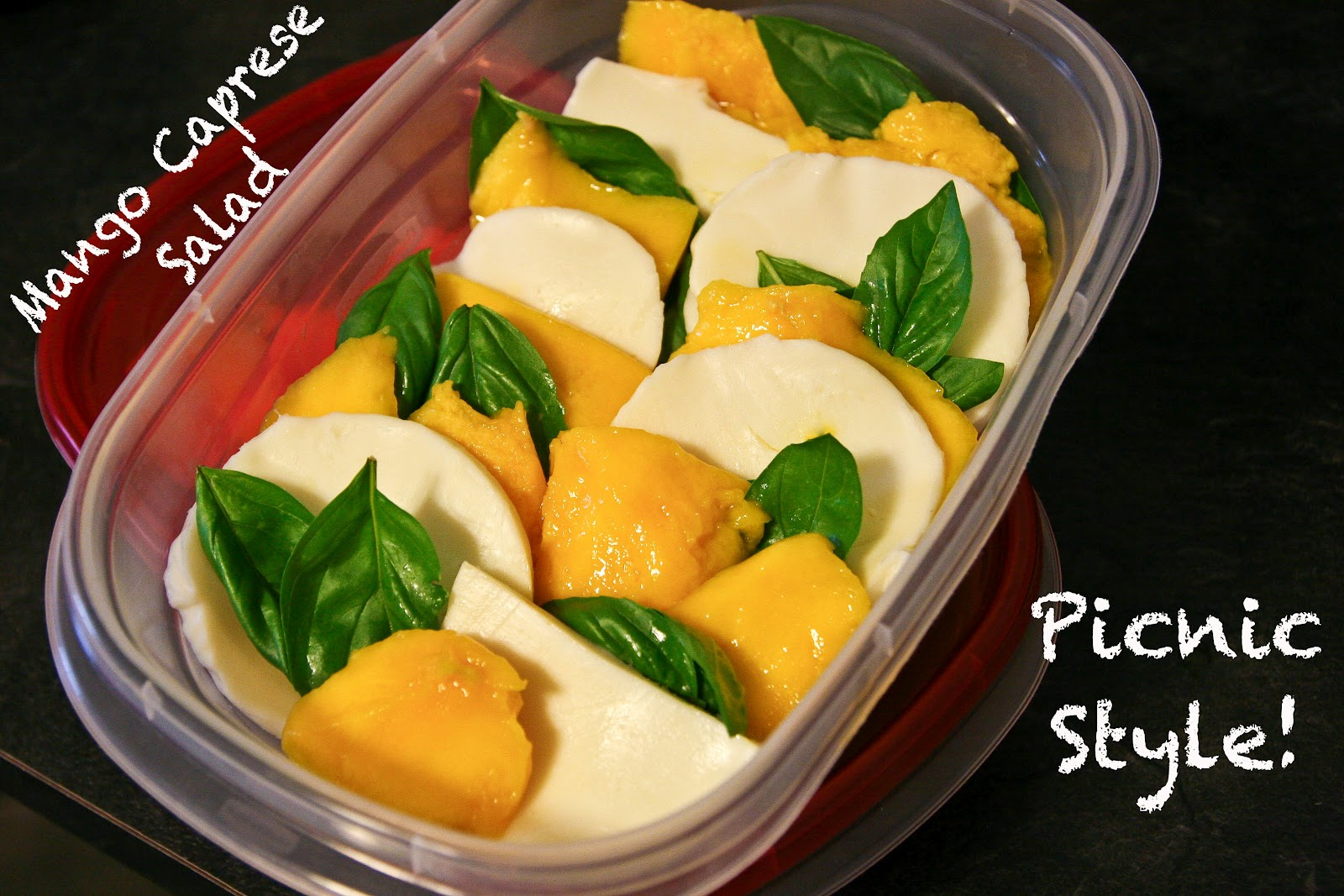 Turquoise and Lime: Mango Caprese Salad...3 ways