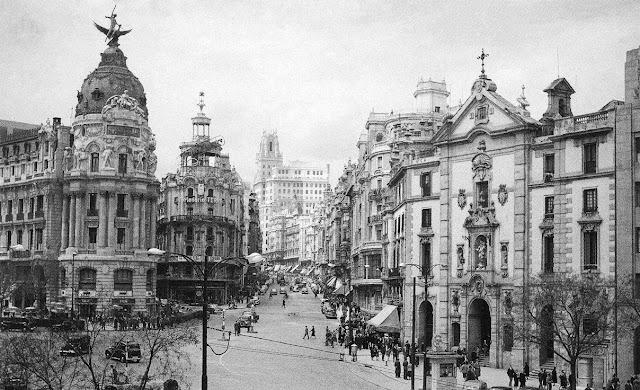Gran Vía con Alcalá, Madrid 1950