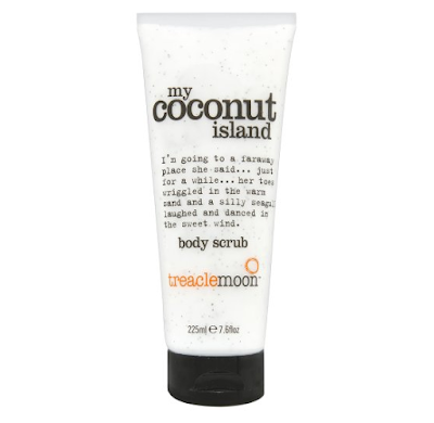 beautiful, scrub, exfoliator, coconut island, coconut, body scrub, shower, treacle moon, review