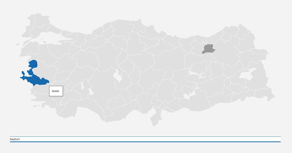 jQuery + Ajax Türkiye Haritası Uygulaması