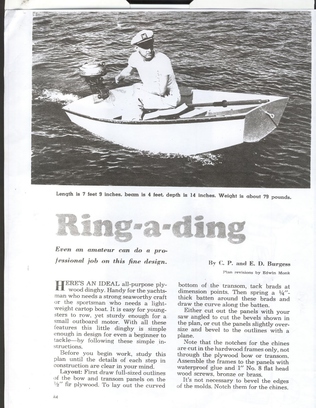 Vintage Plans: Free Boat Plans. Build a Wooden Boat