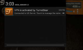 Android app that handles TunnelBear VPN connection
