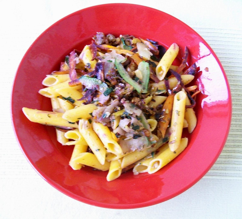 rezept vegan gemüsespaghetti hauptspeise