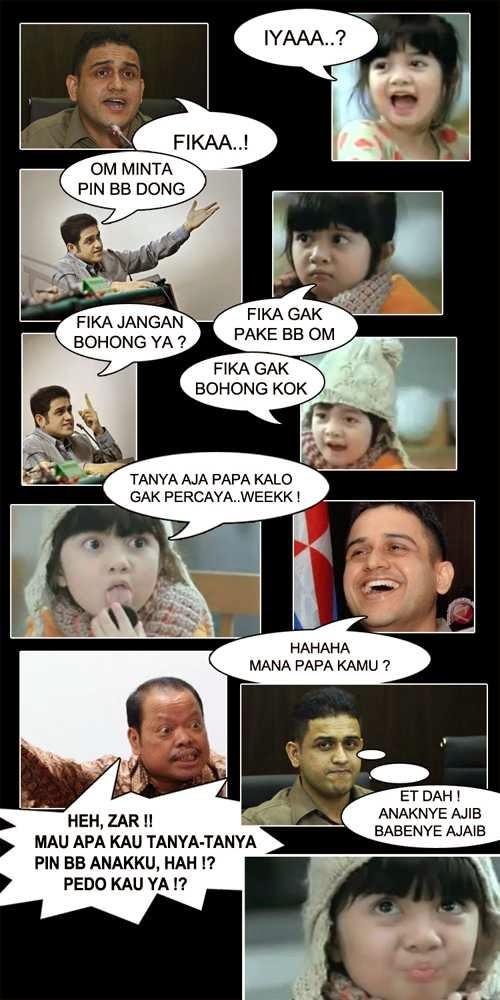 Meme Lucu Afiqah dengan Nazarudin