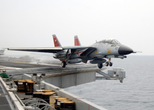 F-14 tomcat carrier takeoff