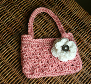Crochet Flower Purse Tutorial 1 - Making the Flowers - YouTube