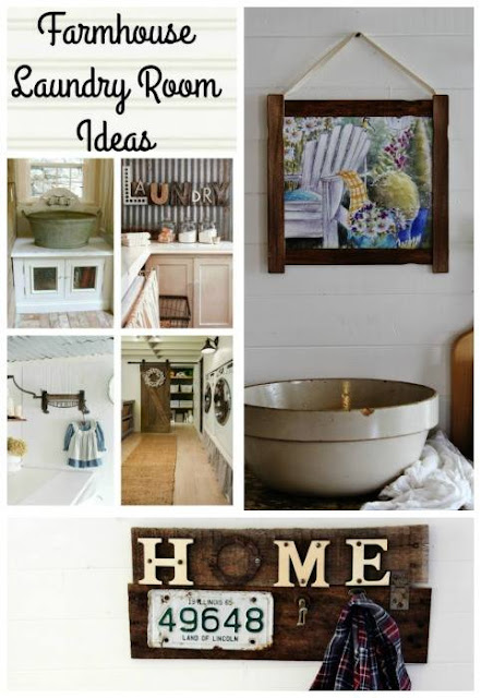 junky sign, water color update, laundry room update