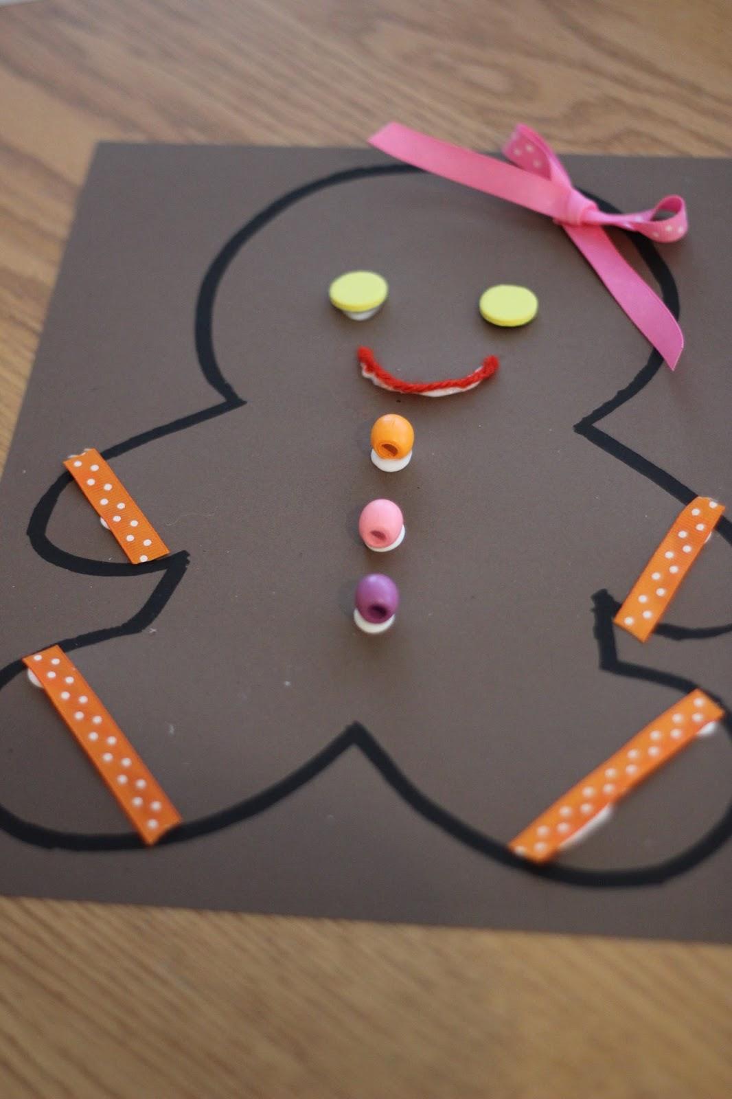 Toddler approved gingerbread man collage craft for Gingerbread crafts for kindergarten