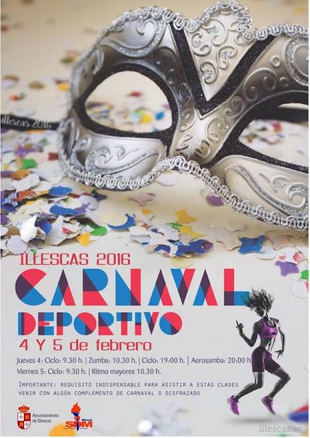 Cartel carnaval deportivo. Imagen COMUNICACION ILLESCAS