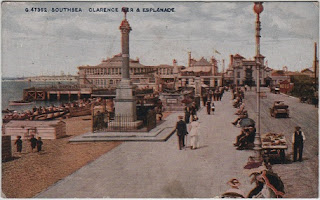 Vintage postcard of Clarence Pier and Esplanade, Southsea, Hampshire